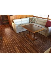 NuTeak Interior Synthetic Decking Products Called C Flor Comes In Stunning Popular Wood Like Grains TEAK Or CHERRY Also With A 20yr Warranty